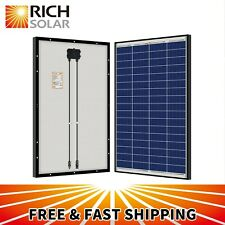 RICH SOLAR 100W 200W Black Frame Polycrystalline Solar Panel 12V Battery Charger