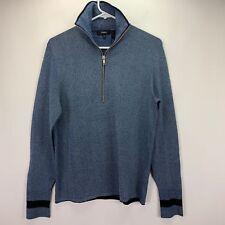 Theory Mens Helmo Quarter Zip Sweater Pullover Ingress Blue XS