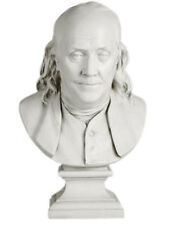 """Benjamin Franklin Bust by Houdon 23"""" Museum Sculpture Replica Reproduction"""