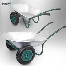 Bituxx 2-Rad Bauschubkarre Gartenkarre 100L 150kg Schubkarren Schiebkarre