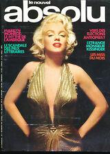 LE NOUVEL ABSOLU 10 (11/76) MARILYN MONROE CLAUDE FRANCOIS BERENSON  KAUS KINSKI