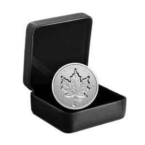 🇨🇦 Canada $20 Dollars Super Incuse Silver Maple Leaf Coin in High Depth, 2021