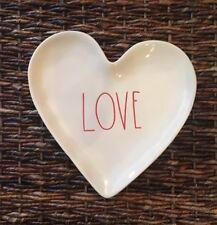 Rae Dunn Magenta LOVE Heart Shaped Plate Valentine's