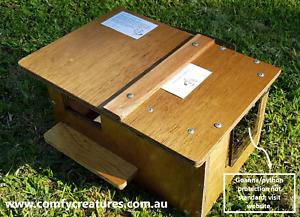 Premium possum nesting box. Fully assembled from weather-resistant hardwood.