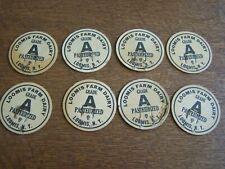 LOOMIS, NEW YORK-8 UNUSED MILK BOTTLE CAPS-LOOMIS FARM DAIRY