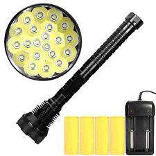 Powerful 37000LM CREE XML LED 21x T6 Flashlight Torch Light Lamp+4x26650+Charger