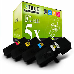 5x MWT ECO Toner XXL für Kyocera Ecosys M-5521-cdw P-5021-cdn M-5521-cdn