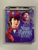 Mary Poppins Returns Steelbook (4K Ultra HD Blu-ray/Blu-ray) INCLUDES DIGITAL