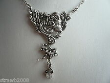Woodland Fairy Faery Fae Pendant Necklace Antique Silver Effect Steampunk BoHo