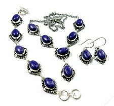 AAA Purple Charoite Silver Plated Earring Necklace Bracelet Set