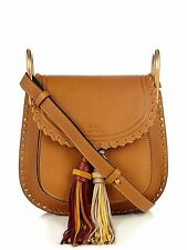 Chloe Small Hudson shoulder Bag Mustard Brown Multi Tassles Flap Handbag New
