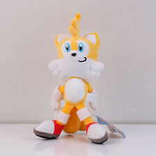 Sonic the Hedgehog Tails Yellow Anime Plush Soft Stuffed Toy Doll 8 inch US SHIP