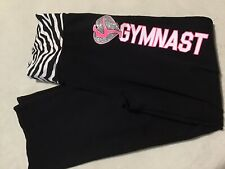 Justice Girls Size 12 Stretch Straight Pants Gymnast Gymnastics Sparkle Glitz