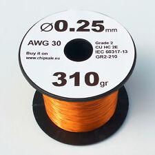 0.25 mm 30 AWG Gauge 310 gr ~690 m (0.7 lb) Magnet Wire Enameled Copper Coil