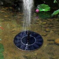 Solar Panel Power Fountain Submersible Water Pump Pond Pool Kit Garden Watering