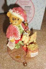 Cherished Teddies Wendall 2001 Christmas Santa Reindeer Le #848565 Nib