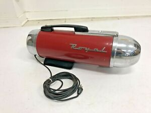 Vintage ROYAL CANISTER Vacuum Cleaner 290A TESTED WORKS red space age atomic 50s