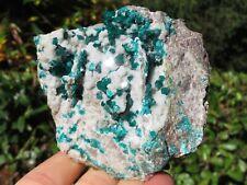 Minerali *** DIOPTASIO VERDE in CRISTALLI su MATRICE Namibia