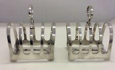 More details for antique walker & hall toast racks 1900's silver soldered for bates club