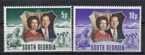 (85364) South Georgia MNH Queen Prince Philip Silver Wedding unmounted mint 1972