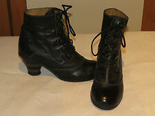 FLY LONDON PIMMS DESIGNER BLACK LEATHER LACE UP ANKLE BOOTS UK 4 EUR 37 RRP £110