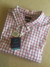 Big & Tall Mens Cotton Comfort Stretch Woven Plaid Shirt Short Sleeved - 3XB