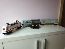 LEGO Eisenbahn MOC Train Lok DB 101 Lokomotive mit RC und 2 Waggons & Containern