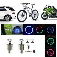Coloful LED Wheel Tyre Tire Air Valve Stem Cap LED Light Lamp Car Wheel Decor TO