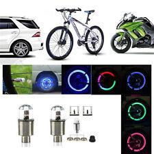 Coloful LED Wheel Tyre Tire Air Valve Stem Cap LED Light Lamp Car Wheel Decor ES
