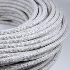 FIL ELECTRIQUE TISSU blanc Girard Sudron CABLE TEXTILE TORSADE 2X0.50mm²