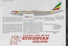 ETHIOPIAN AIRLINES B720-024B #ET-AFA  D.C.NICHOLS TECH DRAWING & HISTORY 1977