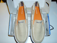 Nautica Kids Doubloon Canvas Boat Shoes Slipon Youth Size 6 Agate Tan