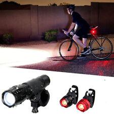 Kit Luci Bici Led Anteriore Posteriore Torcia Faro Fanale MTB Bicicletta