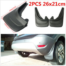 2Pcs ABS Soft Plastic Car Styling Sports Mud Flaps Protector Splash Guards Black