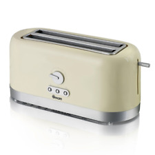 Swan ST10090CREN 4 Slice Longslot Toaster - Beige