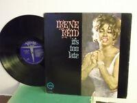 "Irene Reid,Verve, ""It's Too Late"",US,LP,mono,1965 jazz vocals album. rare,Mint-"