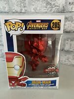 FUNKO POP Iron Man Marvel 285 Red Chrome SPECIAL EDITION Bobble Avengers