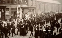 OLD PHOTO Featuring A Procession Of Striking Tramway Workers In Liverpool
