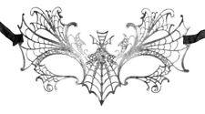 Schmetterling Augenmaske Obsidia - Silber Antik Strass Maskenball Maskerade