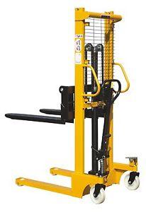 New Manual  Lifter Mover Warehouse Pallet Stacker 1500kg  1.6m Adjustable Forks