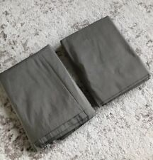 2X Restoration Hardware Thai Silk Solid Rod Pocket Drapery Curtain 50x108� Fog