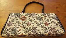 Vintage, Fabric/Floral Print with Patent Leather, Baguette Handbag (1960s)