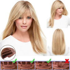 Womens Ladies Gold Long Wigs Hair Ombre Straight Party Cosplay Real Natural Wig