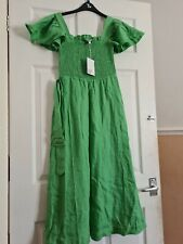 & Other Stories - short Sleeved Linen Dress - Size 6/34- Nwtags - Rrp £120