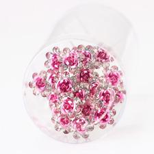 Accessoires cheveux 1 lot de 5 épingles à chignon fleurs à strass - rose