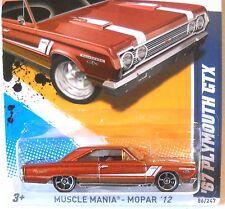 2012 Hot Wheels #86 MUSCLE MANIA MOPAR 6/10 ∞ '67 PLMOUTH GTX ∞ BROWN