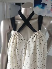 NEW Cream Mini dress by TWENTYONE size medium / 10 loose fit Babydoll Style