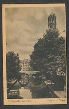 Utrecht  Oudegracht met Dom
