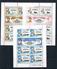 Gren St Vincent 1982 Official SHEETS SG O1/6 MNH
