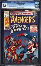 Avengers Annual #3 CGC 9.6 1969 Thor! Iron Man! Hulk White Pages H7 917 cm clean